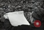 Image of Bulgarian citizens signing letter of appreciation Sofia Bulgaria, 1947, second 11 stock footage video 65675032349