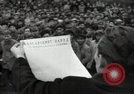 Image of Bulgarian citizens signing letter of appreciation Sofia Bulgaria, 1947, second 14 stock footage video 65675032349