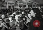 Image of Bulgarian citizens signing letter of appreciation Sofia Bulgaria, 1947, second 31 stock footage video 65675032349