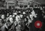 Image of Bulgarian citizens signing letter of appreciation Sofia Bulgaria, 1947, second 32 stock footage video 65675032349