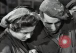 Image of Bulgarian citizens signing letter of appreciation Sofia Bulgaria, 1947, second 41 stock footage video 65675032349