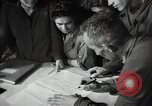 Image of Bulgarian citizens signing letter of appreciation Sofia Bulgaria, 1947, second 60 stock footage video 65675032349