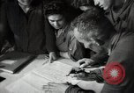 Image of Bulgarian citizens signing letter of appreciation Sofia Bulgaria, 1947, second 61 stock footage video 65675032349