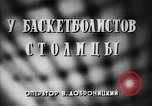 Image of basket ball players practicing Russia, 1947, second 2 stock footage video 65675032355