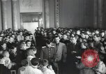 Image of premier of a Russian movie Russia, 1948, second 18 stock footage video 65675032364