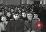 Image of premier of a Russian movie Russia, 1948, second 58 stock footage video 65675032364