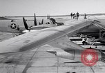 Image of Convair B-36 and airmen Fort Worth Texas USA, 1951, second 10 stock footage video 65675032412