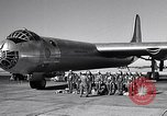 Image of pre-flight inspection of Convair B-36 and crew Fort Worth Texas USA, 1951, second 2 stock footage video 65675032420