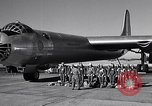 Image of pre-flight inspection of Convair B-36 and crew Fort Worth Texas USA, 1951, second 4 stock footage video 65675032420