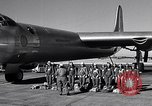 Image of pre-flight inspection of Convair B-36 and crew Fort Worth Texas USA, 1951, second 7 stock footage video 65675032420