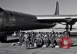Image of pre-flight inspection of Convair B-36 and crew Fort Worth Texas USA, 1951, second 8 stock footage video 65675032420