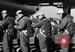 Image of pre-flight inspection of Convair B-36 and crew Fort Worth Texas USA, 1951, second 13 stock footage video 65675032420