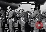 Image of pre-flight inspection of Convair B-36 and crew Fort Worth Texas USA, 1951, second 14 stock footage video 65675032420