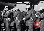 Image of pre-flight inspection of Convair B-36 and crew Fort Worth Texas USA, 1951, second 15 stock footage video 65675032420