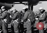Image of pre-flight inspection of Convair B-36 and crew Fort Worth Texas USA, 1951, second 16 stock footage video 65675032420