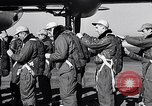 Image of pre-flight inspection of Convair B-36 and crew Fort Worth Texas USA, 1951, second 18 stock footage video 65675032420