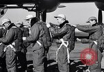 Image of pre-flight inspection of Convair B-36 and crew Fort Worth Texas USA, 1951, second 19 stock footage video 65675032420