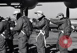 Image of pre-flight inspection of Convair B-36 and crew Fort Worth Texas USA, 1951, second 20 stock footage video 65675032420