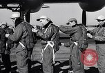 Image of pre-flight inspection of Convair B-36 and crew Fort Worth Texas USA, 1951, second 21 stock footage video 65675032420