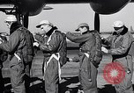 Image of pre-flight inspection of Convair B-36 and crew Fort Worth Texas USA, 1951, second 22 stock footage video 65675032420