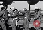 Image of pre-flight inspection of Convair B-36 and crew Fort Worth Texas USA, 1951, second 23 stock footage video 65675032420