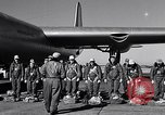 Image of pre-flight inspection of Convair B-36 and crew Fort Worth Texas USA, 1951, second 24 stock footage video 65675032420