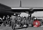 Image of pre-flight inspection of Convair B-36 and crew Fort Worth Texas USA, 1951, second 25 stock footage video 65675032420