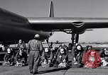 Image of pre-flight inspection of Convair B-36 and crew Fort Worth Texas USA, 1951, second 26 stock footage video 65675032420