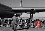 Image of pre-flight inspection of Convair B-36 and crew Fort Worth Texas USA, 1951, second 27 stock footage video 65675032420