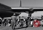 Image of pre-flight inspection of Convair B-36 and crew Fort Worth Texas USA, 1951, second 28 stock footage video 65675032420