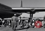 Image of pre-flight inspection of Convair B-36 and crew Fort Worth Texas USA, 1951, second 29 stock footage video 65675032420