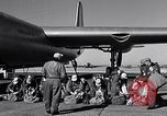 Image of pre-flight inspection of Convair B-36 and crew Fort Worth Texas USA, 1951, second 30 stock footage video 65675032420