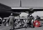 Image of pre-flight inspection of Convair B-36 and crew Fort Worth Texas USA, 1951, second 31 stock footage video 65675032420