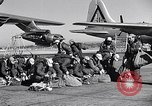 Image of pre-flight inspection of Convair B-36 and crew Fort Worth Texas USA, 1951, second 32 stock footage video 65675032420