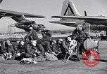 Image of pre-flight inspection of Convair B-36 and crew Fort Worth Texas USA, 1951, second 33 stock footage video 65675032420