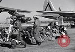 Image of pre-flight inspection of Convair B-36 and crew Fort Worth Texas USA, 1951, second 36 stock footage video 65675032420