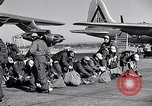 Image of pre-flight inspection of Convair B-36 and crew Fort Worth Texas USA, 1951, second 37 stock footage video 65675032420