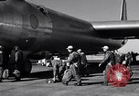 Image of pre-flight inspection of Convair B-36 and crew Fort Worth Texas USA, 1951, second 39 stock footage video 65675032420