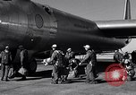Image of pre-flight inspection of Convair B-36 and crew Fort Worth Texas USA, 1951, second 40 stock footage video 65675032420