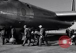 Image of pre-flight inspection of Convair B-36 and crew Fort Worth Texas USA, 1951, second 41 stock footage video 65675032420
