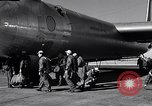 Image of pre-flight inspection of Convair B-36 and crew Fort Worth Texas USA, 1951, second 42 stock footage video 65675032420