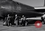 Image of pre-flight inspection of Convair B-36 and crew Fort Worth Texas USA, 1951, second 43 stock footage video 65675032420