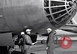 Image of pre-flight inspection of Convair B-36 and crew Fort Worth Texas USA, 1951, second 45 stock footage video 65675032420