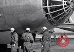 Image of pre-flight inspection of Convair B-36 and crew Fort Worth Texas USA, 1951, second 46 stock footage video 65675032420
