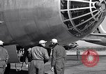Image of pre-flight inspection of Convair B-36 and crew Fort Worth Texas USA, 1951, second 47 stock footage video 65675032420