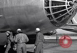 Image of pre-flight inspection of Convair B-36 and crew Fort Worth Texas USA, 1951, second 48 stock footage video 65675032420