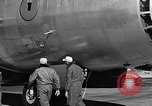 Image of pre-flight inspection of Convair B-36 and crew Fort Worth Texas USA, 1951, second 50 stock footage video 65675032420