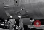 Image of pre-flight inspection of Convair B-36 and crew Fort Worth Texas USA, 1951, second 51 stock footage video 65675032420