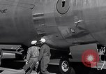 Image of pre-flight inspection of Convair B-36 and crew Fort Worth Texas USA, 1951, second 52 stock footage video 65675032420