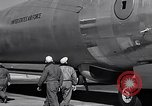Image of pre-flight inspection of Convair B-36 and crew Fort Worth Texas USA, 1951, second 53 stock footage video 65675032420